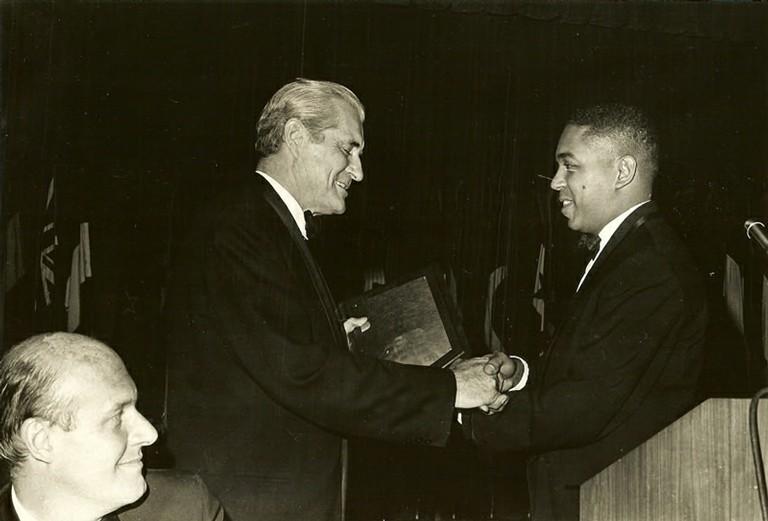 Nicholas de B. Katzenbach, Eric Sevareid, Wallace Terry - big