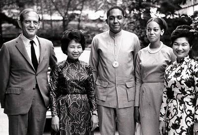 Luncheon with Vietnamese businesswomen, Saigon – 1968 - small