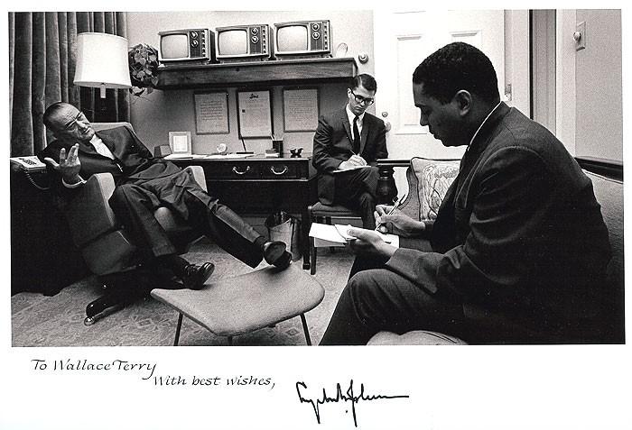 Terry interviews President Lyndon Johnson – 1965 - big