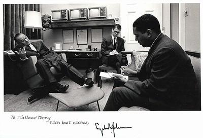 Terry interviews President Lyndon Johnson – 1965 - small